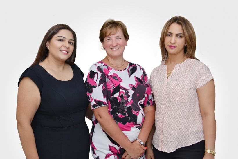Our Gulf Office team - Raakhee, Sue and Samah
