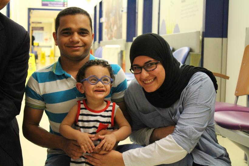 Patient Hadi with his family