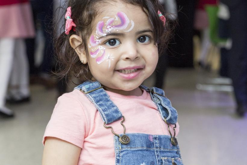 Little girl with facepaint