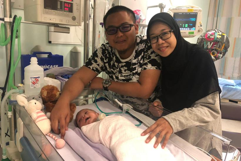 Ainul at GOSH with parents