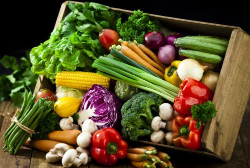Box of vegetables credit