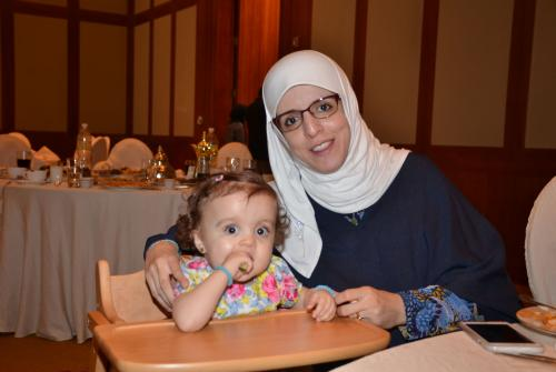 Sukaina Adel and her daughter Laila